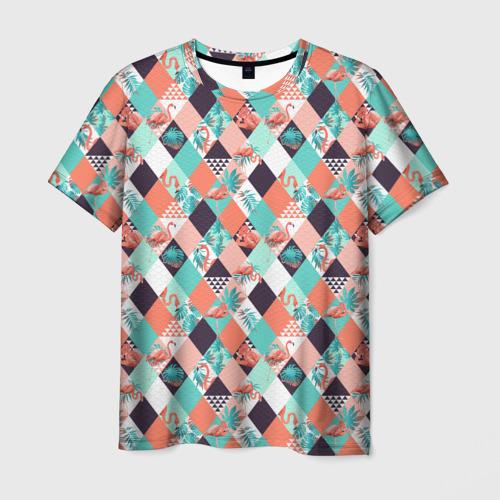 Мужская футболка 3D Фламинго