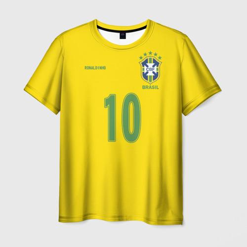 Мужская футболка 3D Роналдиньо