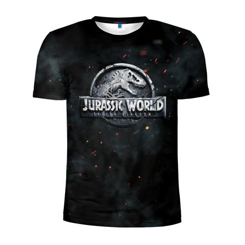Мужская футболка 3D спортивная Мир Юрского Периода