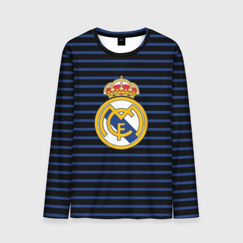 Мужской лонгслив 3D Реал Мадрид