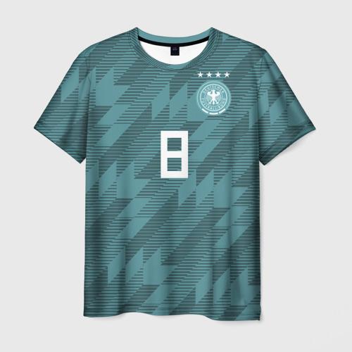 Мужская футболка 3D Kroos away WC 2018