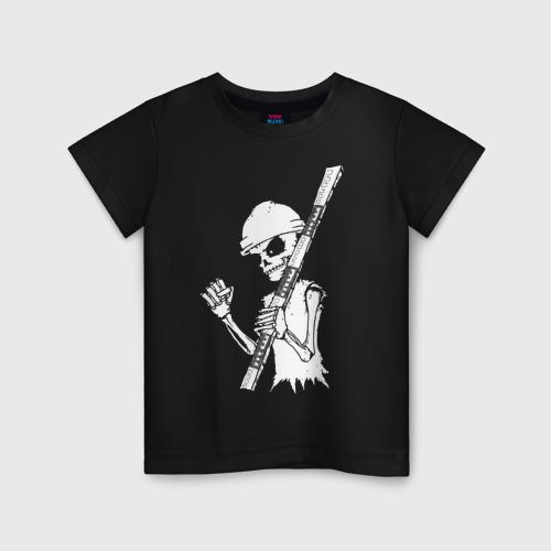 Детская футболка хлопок Скелетон геодезист 2 (бел.)