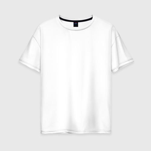 Женская футболка хлопок Oversize Скелетон геодезист 2 (бел.)