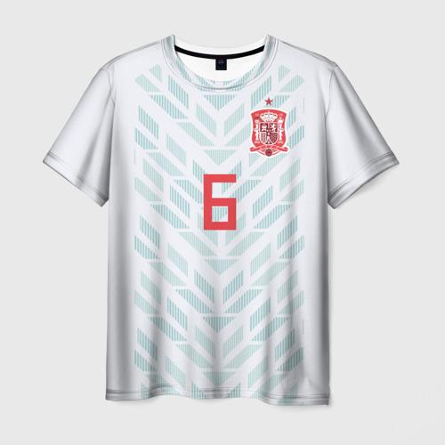 Мужская футболка 3D Iniesta away WC 2018