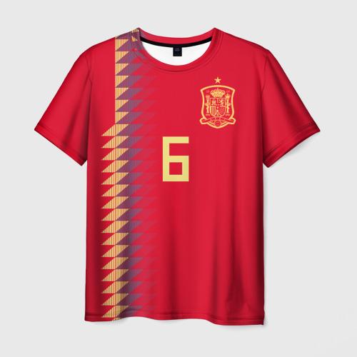 Мужская футболка 3D Iniesta home WC 2018