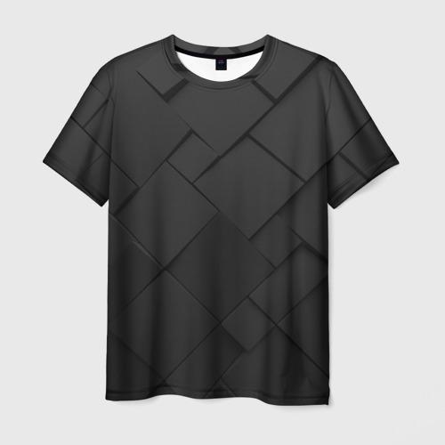 Мужская футболка 3D Карбоновая абстракция