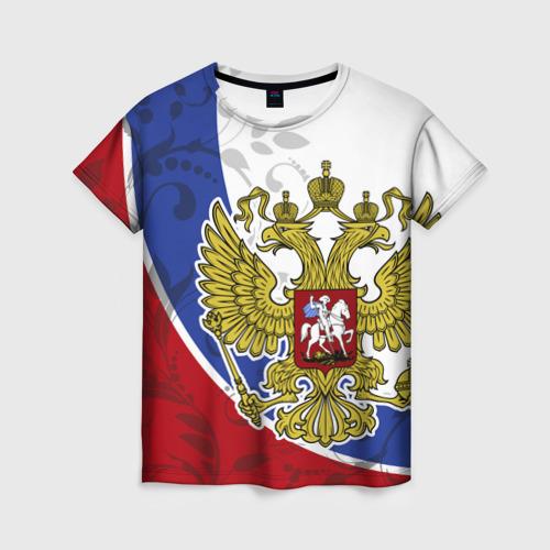 Женская футболка 3D Россия Спорт