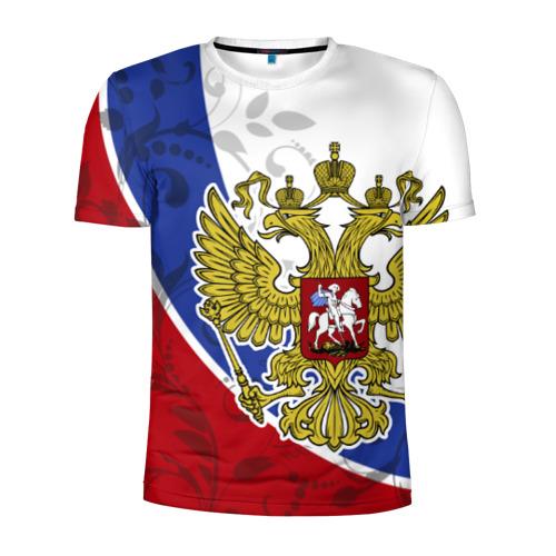 Мужская футболка 3D спортивная Россия Спорт