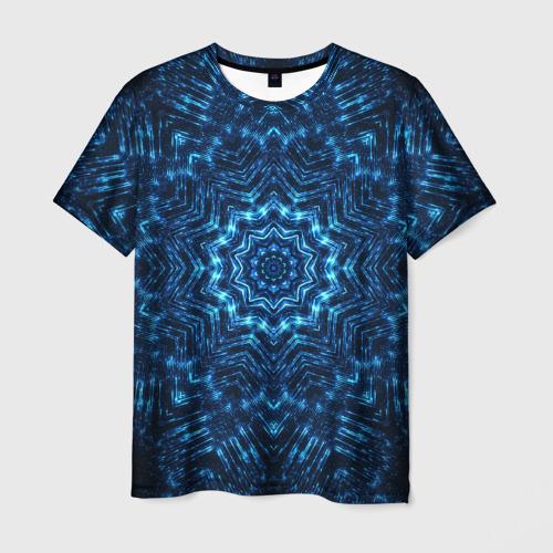 Мужская футболка 3D Космическая мандала