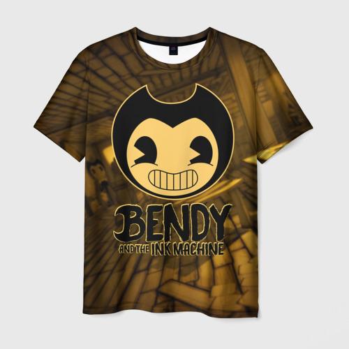 Мужская футболка 3D Bendy and the ink machine (33)
