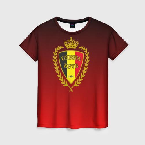 Женская футболка 3D Сборная Бельгии