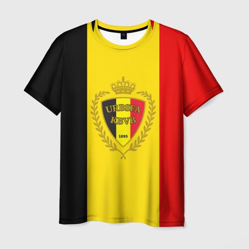 Мужская футболка 3D Сборная Бельгии флаг