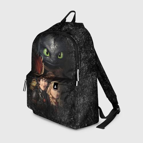 Рюкзак 3D Беззубик и викинги