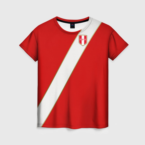 Женская футболка 3D Домашняя форма Перу 2018
