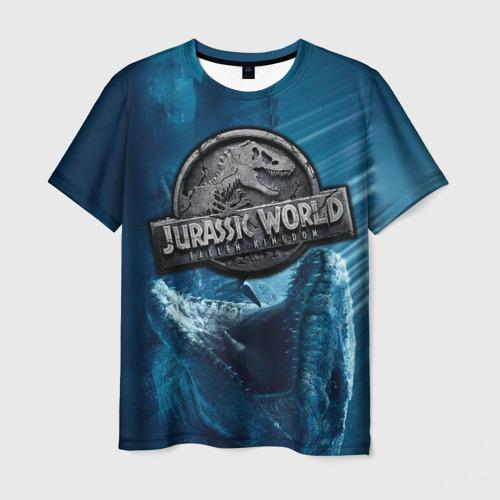 Мужская футболка 3D Мир Юрского Периода