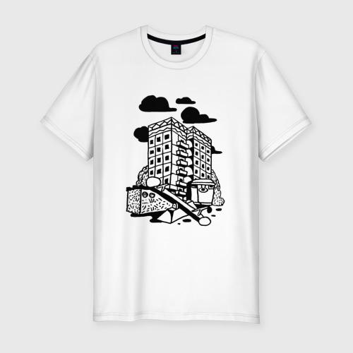 Мужская футболка хлопок Slim Панельный дом
