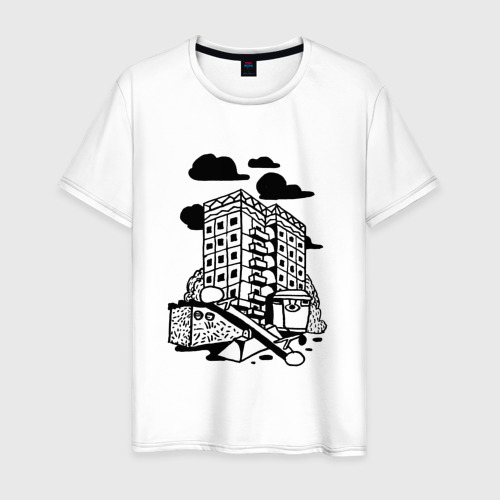 Мужская футболка хлопок Панельный дом