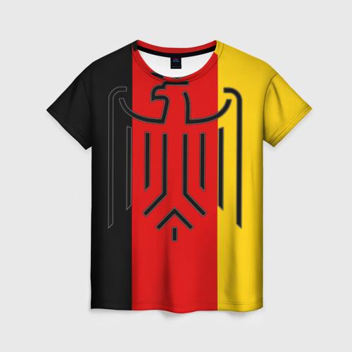 Женская футболка 3D German eagle