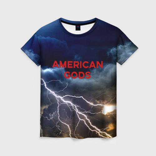 Женская футболка 3D American Gods