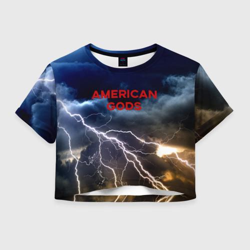 Женская футболка Crop-top 3D American Gods