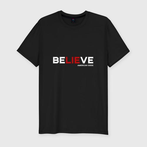 Мужская футболка хлопок Slim American Gods (Believe)