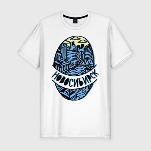 Мужская футболка хлопок Slim Новосибирск