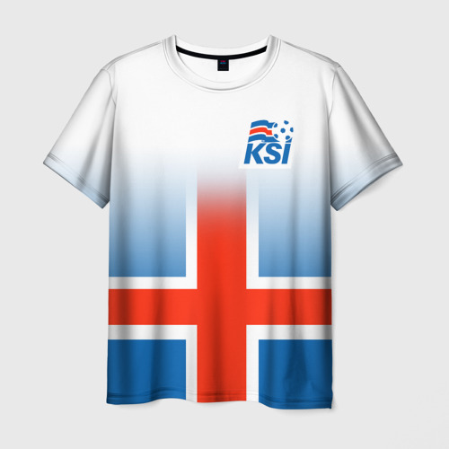 Мужская футболка 3D KSI ICELAND SPORT