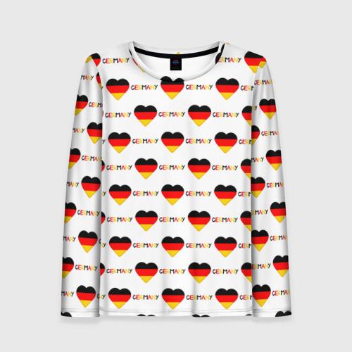 Женский лонгслив 3D Love Germany