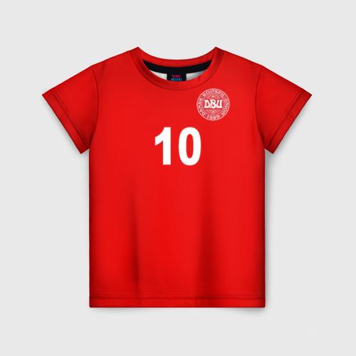Детская футболка 3D Эриксен ЧМ 2018