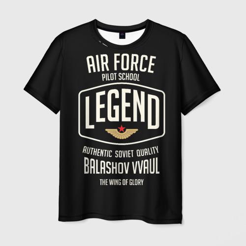 Мужская футболка 3D Балашовское училище летчиков