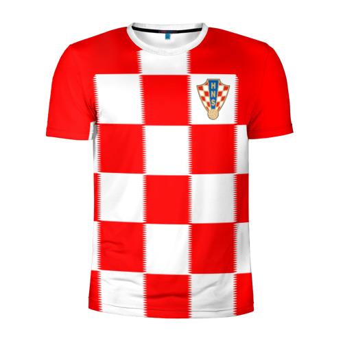 Мужская футболка 3D спортивная Сборная Хорватии ЧМ 2018