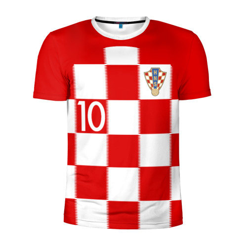Мужская футболка 3D спортивная Модрич Хорватия (форма)