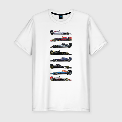 Мужская футболка хлопок Slim Формула 1