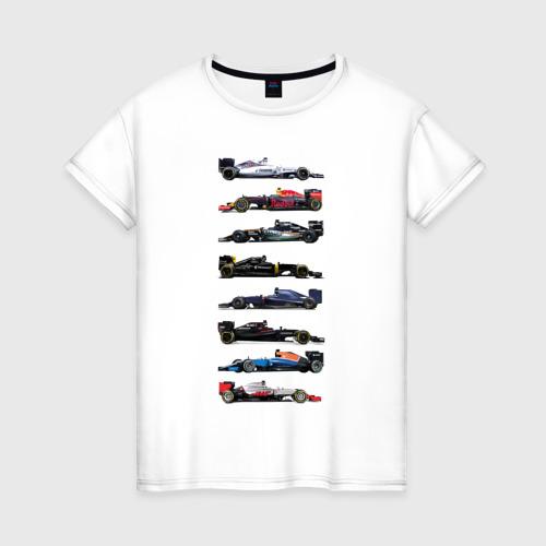 Женская футболка хлопок Формула 1