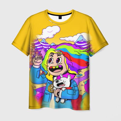 Мужская футболка 3D 69 rainbow