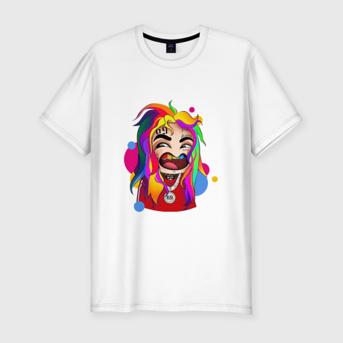 Мужская футболка хлопок Slim 6IX9INE COLORS