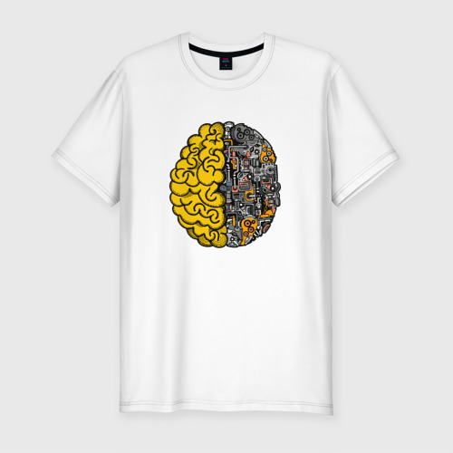 Мужская футболка хлопок Slim Мозг
