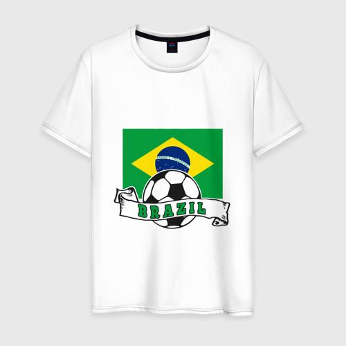 Мужская футболка хлопок Футбол - Бразилия