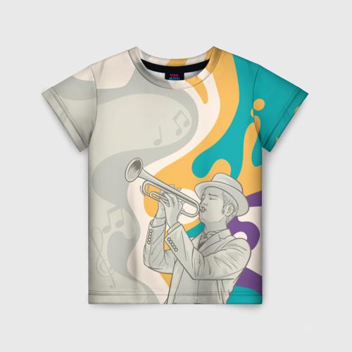 Детская футболка 3D love saxophone