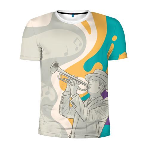 Мужская футболка 3D спортивная love saxophone