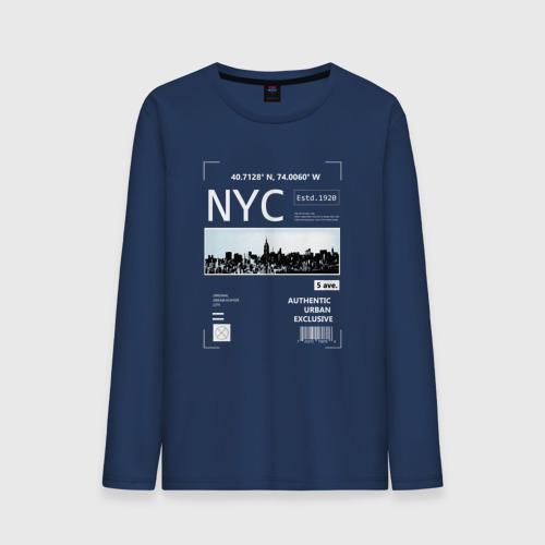 Мужской лонгслив хлопок Нью Йорк