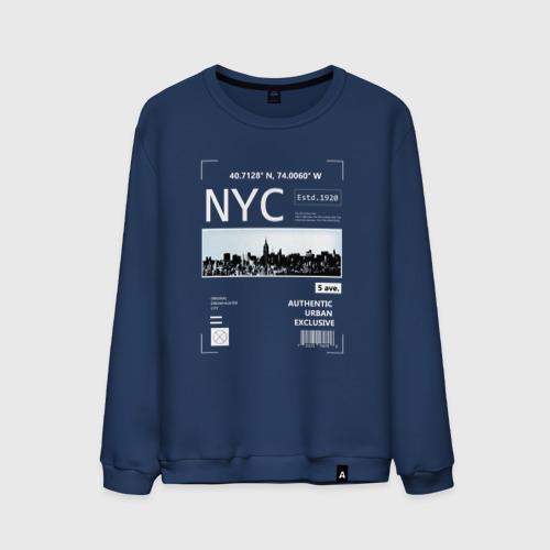 Мужской свитшот хлопок Нью Йорк