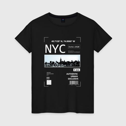 Женская футболка хлопок Нью Йорк