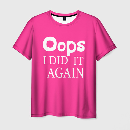 Мужская футболка 3D Ooops