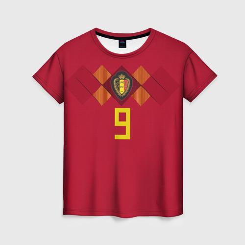 Женская футболка 3D Lukaku WC 2018