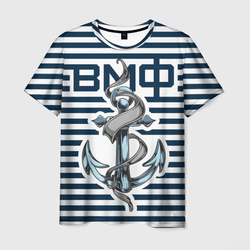 Мужская футболка 3D Якорь ВМФ