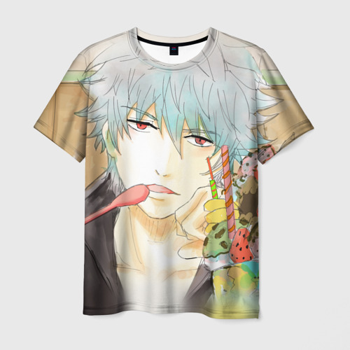 Мужская футболка 3D манга Серебряная душа