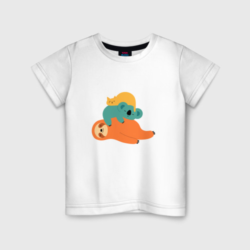 Детская футболка хлопок Лень