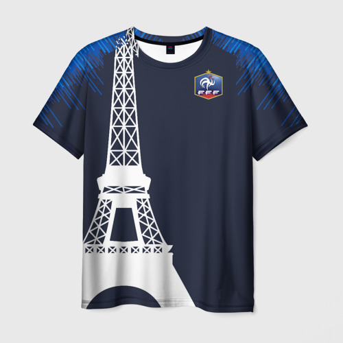 Мужская футболка 3D Сборная Франции форма (exc.)