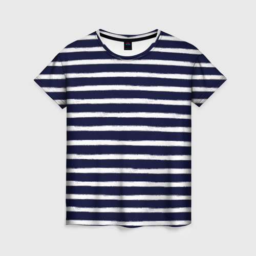 Женская футболка 3D Тельняшка